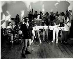 Euphorie Big Band at my loft, The Crossroads, in Montreal (1991)