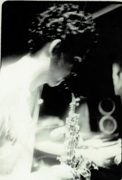 In performance hosting the first acid jazz night at the Foufounes Electriques in Montreal in 1990
