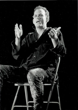 In performance at the Kiss Project in Vancouver 1995