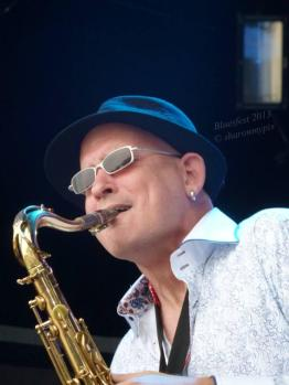 In performance at Ottawa Bluesfest in 2014