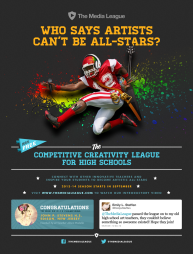 Promo for The Media League, the competitive creativity league, the startup I co-founded in 2012