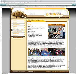 Globalhood's website - 1999 - designed by Duro3