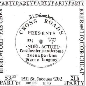 A show I put on at my 2,400 sq. ft loft in 1991 in Montreal. My roommate Doug Lowry and I put on many shows there.