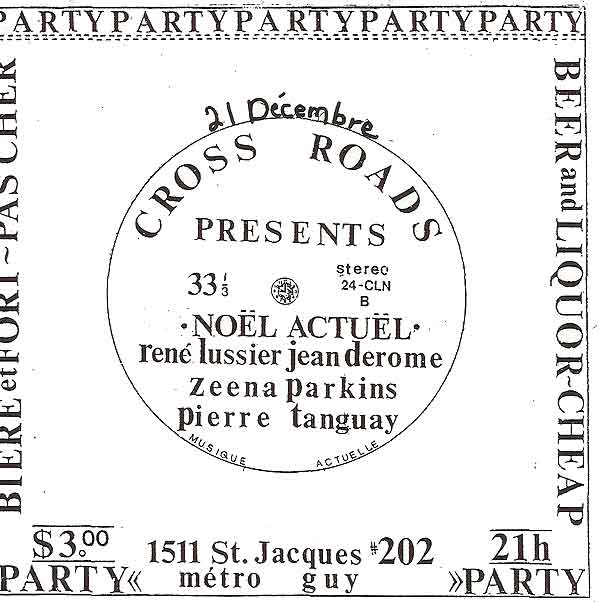 A show I put on at my 2,400 sq. ft loft in 1991 in Montreal. My roommate Doug Lowry put on many shows there.
